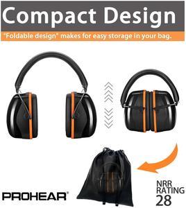 Image 3 - Шумоподавляющие наушники ZOHAN, наушники NRR 28 дБ, наушники для защиты слуха, регулируемые наушники протекторы, гарнитура
