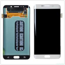 الأصلي 5.7 AMOLED LCD لسامسونج غالاكسي s6 حافة زائد G928 G928F شاشة تعمل باللمس محول الأرقام عرض الأحمر حرق
