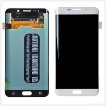 Originele 5.7 Amoled Lcd Voor Samsung Galaxy S6 Rand Plus G928 G928F Touch Screen Digitizer Display Rode Burn