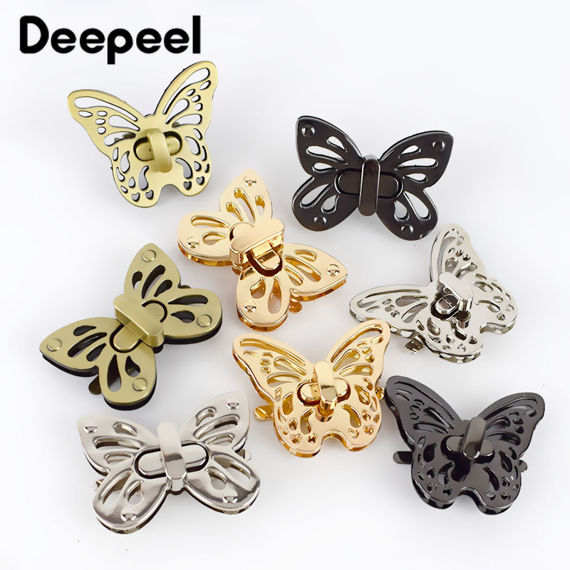 Deepeel 5pcs 50mm Women Bag Lock Clasp Metal Twist Turn Lock HandBag Closure Buckles DIY Hardware Part Accessories KY887/KY602