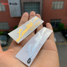 Drei Ratels MT-057 #7,5x1,8 cm limted edition Emblem Kreative 3D metall auto aufkleber für handy(China)