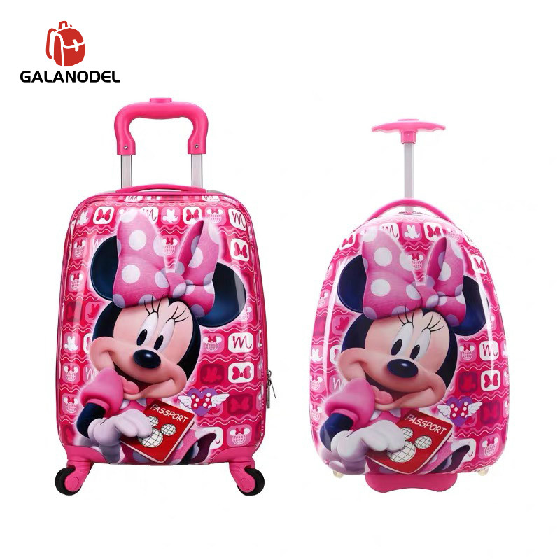 16/18 Inch Kids Cartoon Rolling Luggage Children Travel Suitcase On Wheel Trolley Luggage  For Kid Gift Hard Case Suitcase
