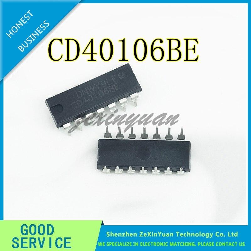 10PCS/LOT  CD40106 CD40106BE 40106 DIP-14 SIX WAY SCHMIDT FLIP-FLOP NEW