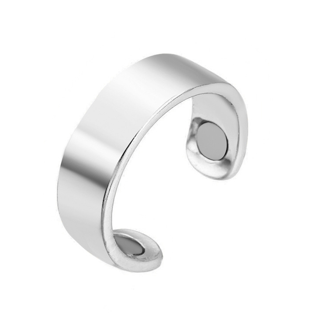 Jewelry Care Magnetic Therapy Acupoints Healthy Bracelets Open Mouth Stud Metal Fat Burning Portable Slimming Ring Weight Loss