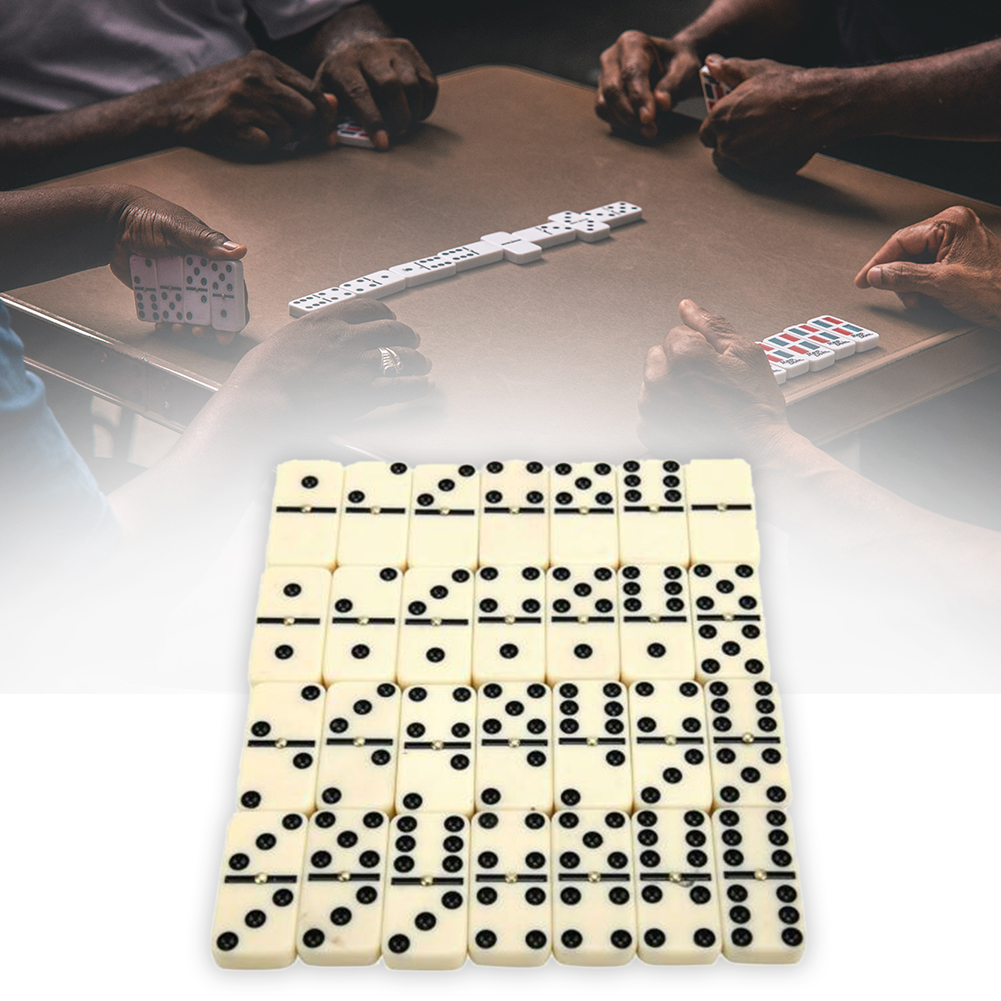 28pcs Gift Dominoes Set Dot Double Six Chess Game Traditional With Box Travel Portable Classic Toy For Kids Funny Blocks