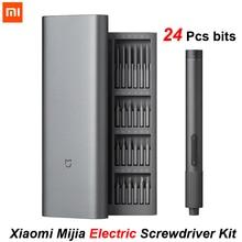 NEW Xiaomi Mijia Electric Screwdriver Kit 2 Precision 400 Screw Charge Magnetic Aluminum Case Repair Tools Smart Home 24 S2
