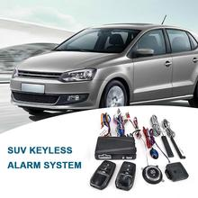 12 В Автомобильная сигнализация с дистанционным управлением, система запуска двигателя без ключа, кнопка дистанционного стартера, автоматическая противоугонная система