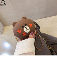 2019 New Girls Schoolbag Change Wallet Cute Bear Cartoon Pouch Mini Bag For Women Storage Coin Purse Keys Earphone Accessories