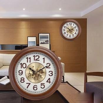 Large Nordic Wall Clock Retro Wooden Bedroom Mute Wall Clock Living Room Reloj De Pared Gift Idea Home Decoration DD45WC