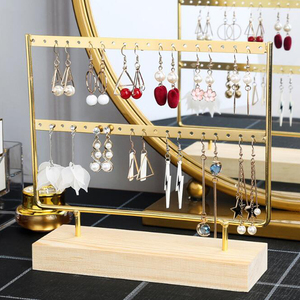 New Steel Stand for Earrings Pendants Bracelets Jewelry Display Stud Earrings Holder Jewellery Rack 3 Colors