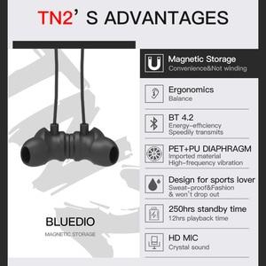 Image 2 - سماعات بلوديو TN2 الرياضية اللاسلكية المزودة بتقنية البلوتوث سماعات لاسلكية بخاصية إلغاء الضوضاء للهواتف والموسيقى