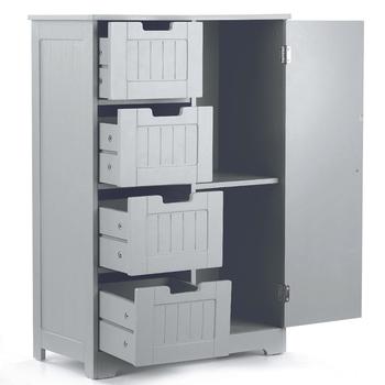 IKayaa Modern Shelved szafka podłogowa z drzwiami i szufladami sypialnia przechowywanie organizator meble biały niebieski tanie i dobre opinie CN (pochodzenie) Nowoczesna i minimalistyczna Szafka do pokoju dziennego meble do domu Nowoczesne 1 (włącznie)-5 (włącznie)
