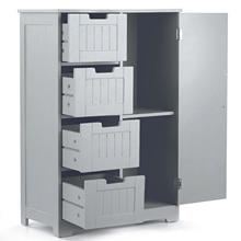 Floor-Cabinet Furniture Drawers Storage-Organizer Ikayaa Bedroom Modern with Door