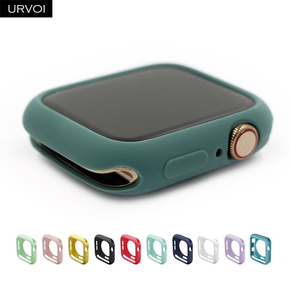 URVOI Candy TPU case for apple watch series 5 4 3 2 1 colorful cover protector for iWatch 38 42 40 44mm fit Ultra-thin frame(China)
