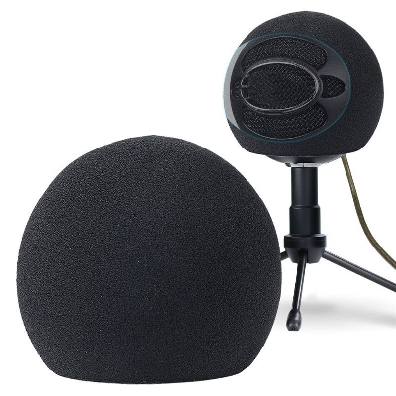 Foam Mic Wind Cover Sponge Filter Artificial Fur Muff Windscreen Windproof Shield For Blue Snowball Condenser Microphone