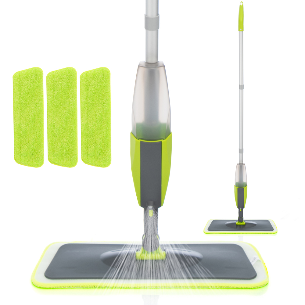 Mop Broom Microfiber-Pads Floor Clean-Tools Magic-Spray 360-Degree-Handle Home-Windows