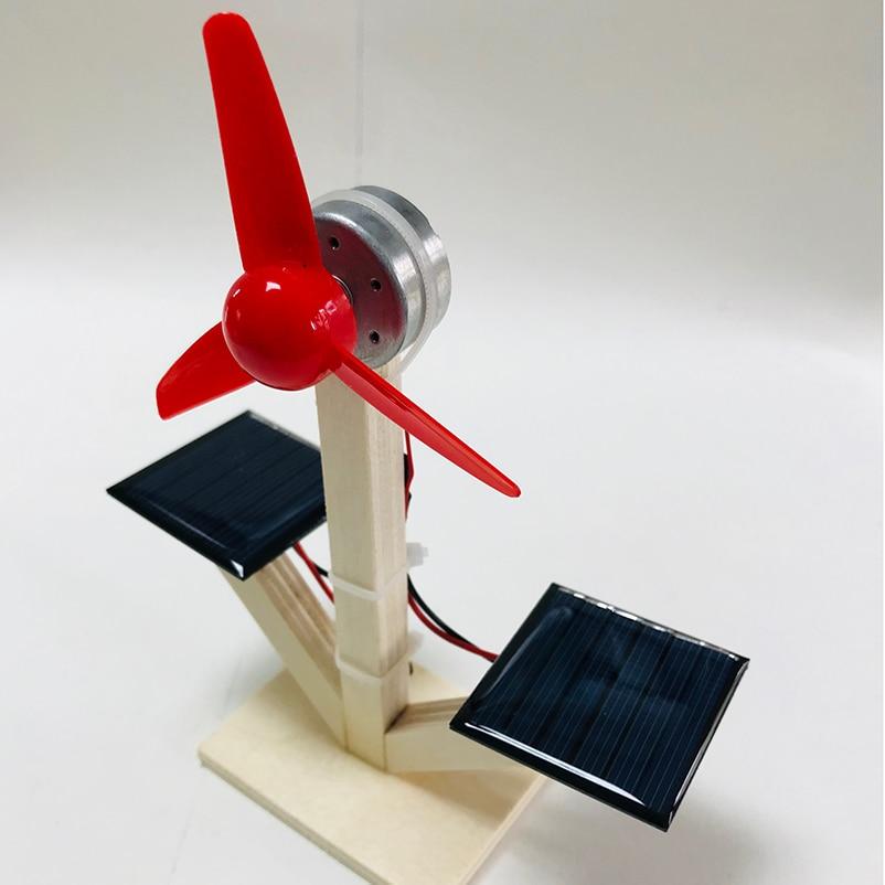 STEM Experiment Solar Windmill Model Solar Hybrid Clean Energy STEAM Child Student Fun Diy Scientific Craft Materials Kit