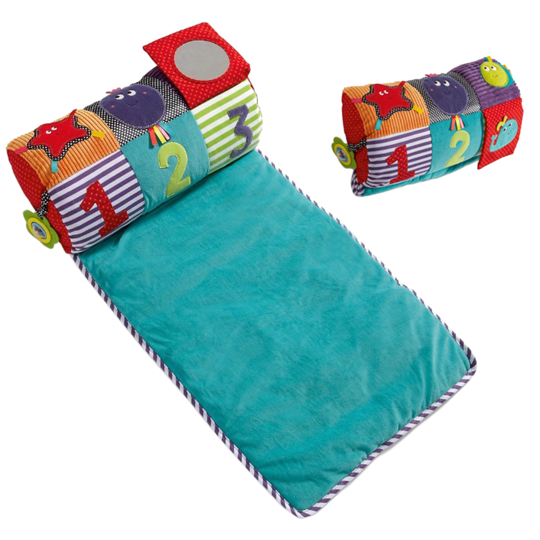 Baby Infant Tummy Time Crawling Mat Play Carpet Roller Pillow Baby Gym Crawling Activity Mat Education Gym Playmat Kids Fitness