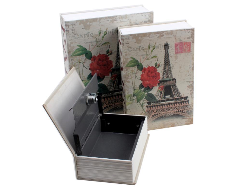 Book Dictionary Shaped Money Saving Box Piggy Bank Coins Keys Safe Money Secret Book Lock-up Property Belongings Storage Box