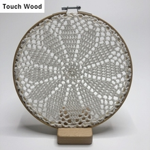 Handmade Cotton Lace Accessory Decoration Bamboo Cases Jewelry Earring Display Decor / diameter 20cm