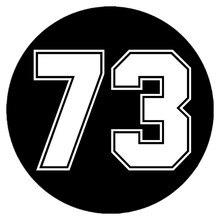 Calcomanía de vinilo troquelada para coche, pegatina de número 73, decoración para automóvil, impermeable, parachoques, ventana trasera, CK20313 #