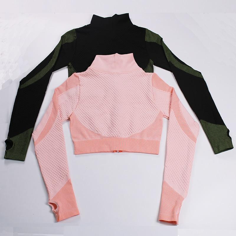 LANTECH-Women-Workout-Sportswear-Running-Long-Sleeve-Zipper-Shirts-Slim-Fit-Yoga-Fitness-Crop-Tops-Training (1)