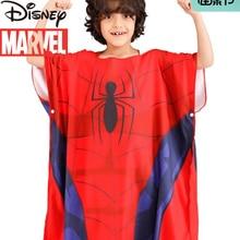 Marvel's Spider-Man Captain America Children's Bathrobe Absorbent Towel Swimming Quick-drying Bath Towel Beach Towel