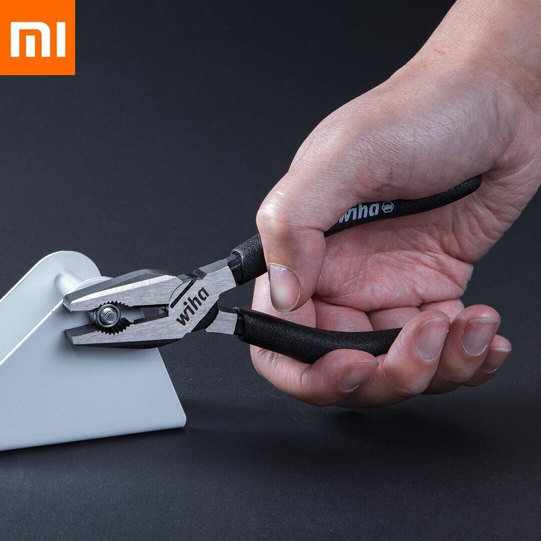 Original xiaomi mijia wiha coupe-fil noir 6 pouces haute teneur en carbone acier coupe-fil breveté structure de coupe pinces xiomi smart