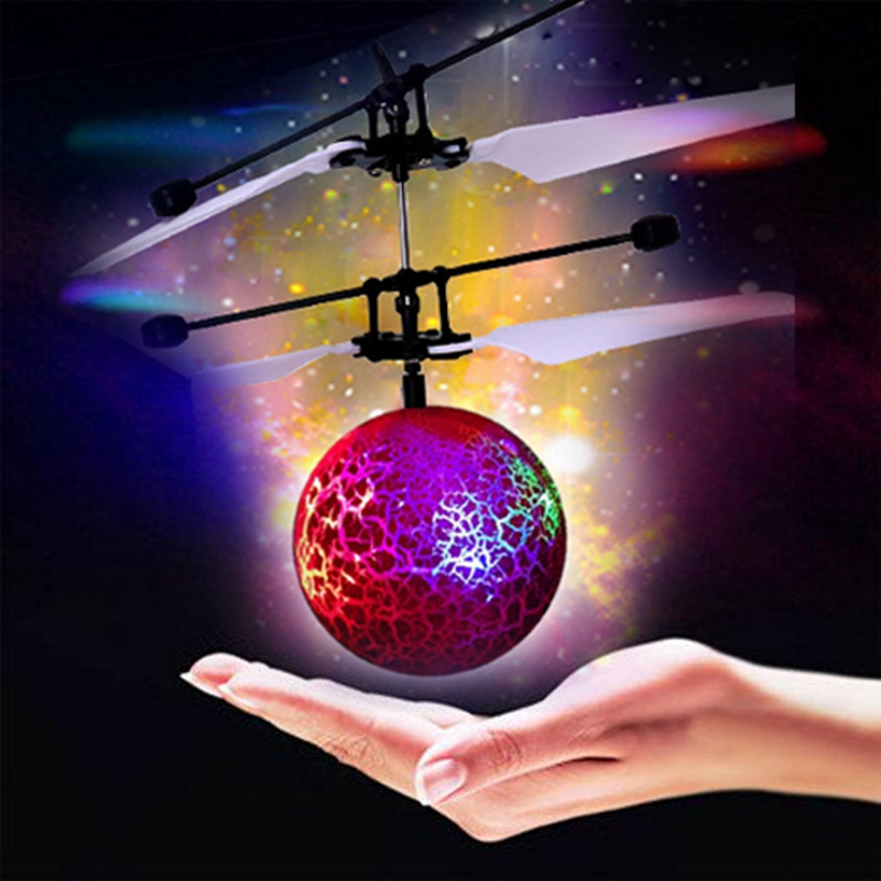 Infrared Induction Drone Flying Flash LED Lighting Ball Helicopter Child Toy Gesture-Sensing Helicopter Children Gift