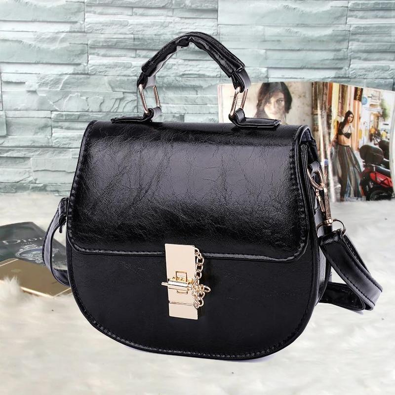 2020 Fashion New Ladies bag High quality PU Leather Women's Bag Designer Luxury Handbag Black Shoulder Bags Small Messenger bags