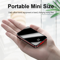 Mini Power Bank 20000mAh Portable Charging Poverbank Mobile Phone External Battery Charger Powerbank 20000 mAh for Xiaomi Mi