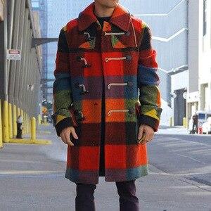 Male Autumn Color Plaid Cloth