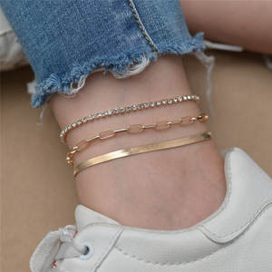 Anklet Beach-Accessories Link-Chain Foot-Jewelry Snake Women Modyle for Fashion Gold-Color