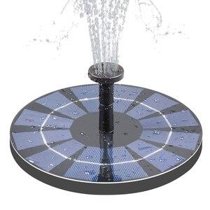Новый солнечный фонтан с резервной батареей 2,5 Вт птица ванная фонтан свободно стоящий на солнечной энергии фонтан для птиц Пруд бассейн Га...