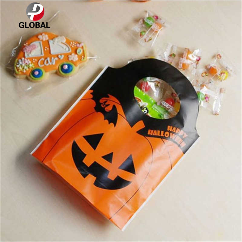 D&P 15.5*19.5*5 25pcs Halloween Easter party decoration pumpkin ghost paper candy bag Baking cookies home prop supplies kid gift