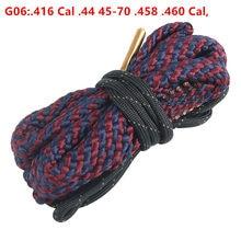 Gun Bore Snake Cleaning Rope G06:.416 Cal .44 45-70 .458 .460 Cal polowanie taktyczne pistolet Barrel Boresnake akcesoria do pistoletu