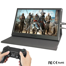 """13.3 """"2 K Draagbare Mini Laptop Monitor Pc 1920X1080 Hdmi Leather Stand PS3 4 Xbox360 1080P lcd Led Display Raspberry Pi Touch"""