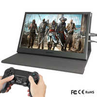 "13,3 ""2 K Mini portátil de Monitor de PC 1920x1080 HDMI soporte de cuero PS3 4 Xbox360 1080P LCD LED de pantalla táctil Raspberry Pi"