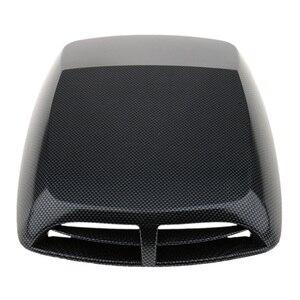 Image 5 - 1 Pcs Universal Car Cappuccio Decor Decorativo Flusso Daria di Aspirazione Scoop Turbo Bonnet Vent Copertura In Plastica ABS 12.8*9.8*2 pollici Car Styling