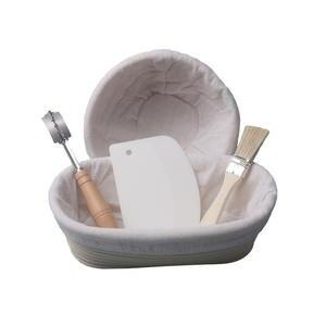 SHENHONG Dough Bread Brush Scraper Curved-Knife Rattan Basket Fermentation-Proofing Danish