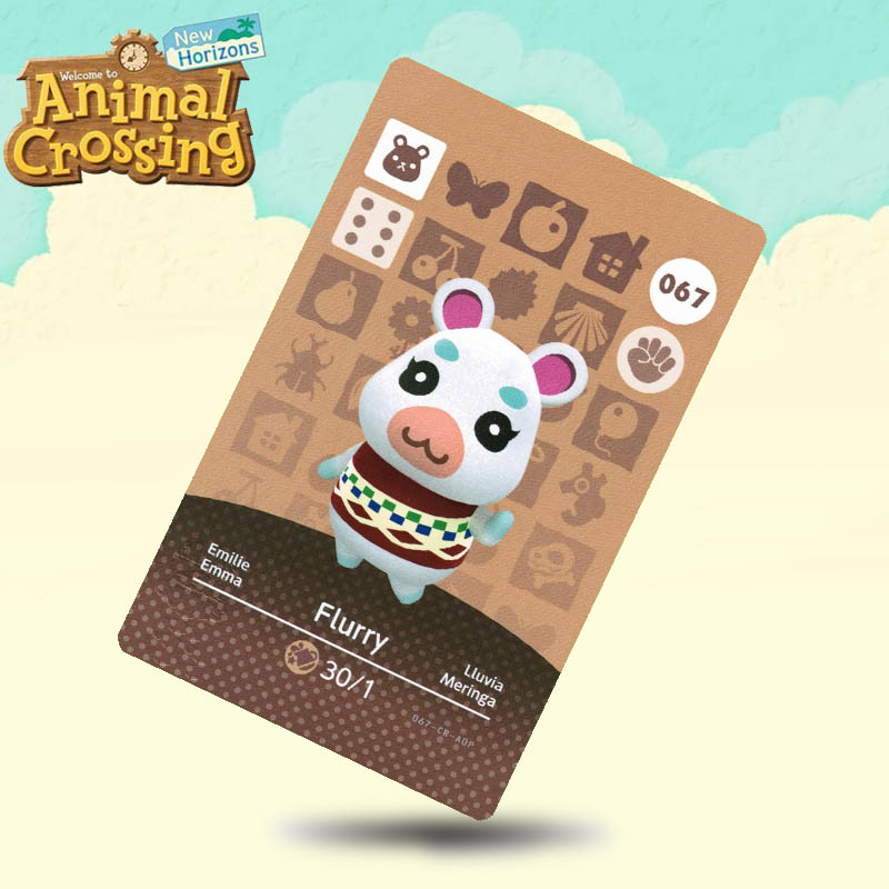 067 Flurry  Animal Crossing Card Amiibo Cards Work For Switch NS 3DS Games