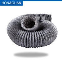 Hon & Guan 10M Grau Aluminium Flexible Fan Führung mit PVC Runde Führung für Dunst fan  inländischen Belüftung; 4 zoll ~ 8 zoll