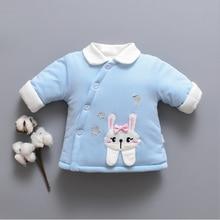 Зимняя модная детская одежда Толстая Теплая стеганая куртка для девочек с хлопковой подкладкой и отворотами