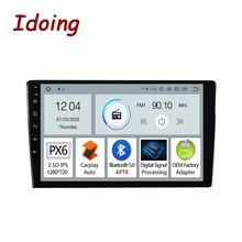 Idoing reproductor Multimedia PX6 para coche, Radio Universal, unidad principal, navegación GPS, Carplay, No 2 Din, DVD