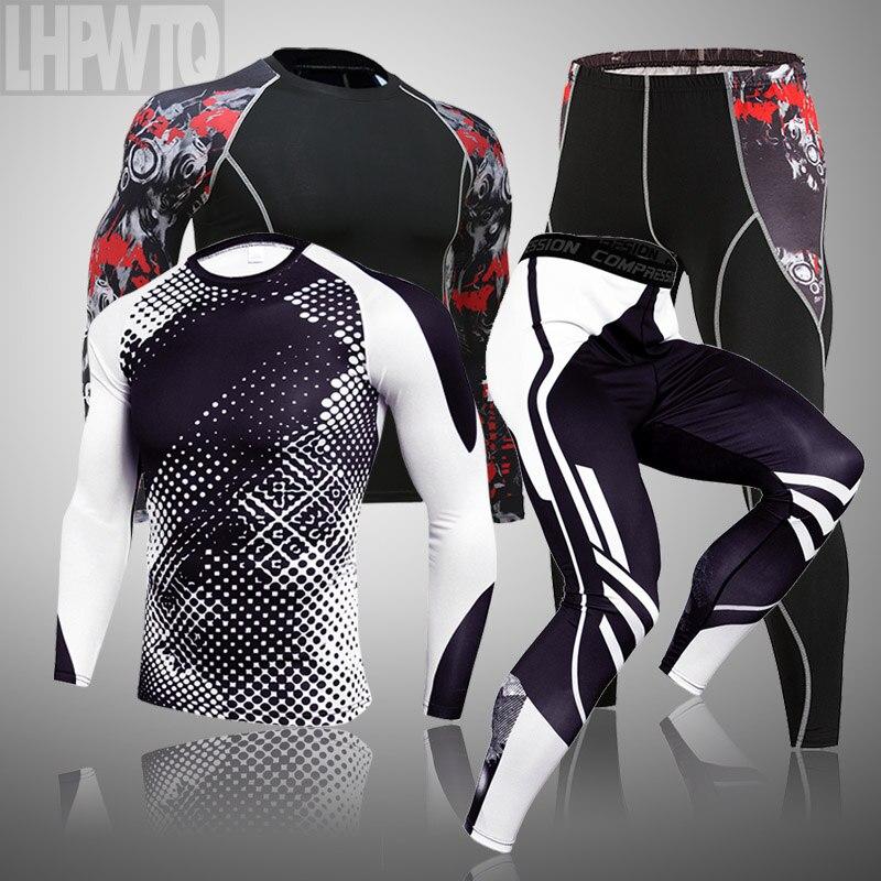 Conjunto de 3 unidades para hombre, ropa deportiva de compresión para gimnasio, correr, trotar, hacer ejercicio|Conjuntos para running| - AliExpress