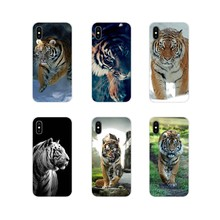 For Apple iPhone X XR XS 11Pro MAX 4S 5S 5C SE 6S 7 8 Plus ipod touch 5 6 Animal Tiger White Nofear Whiskers Stripes Phone Cover(China)