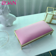 BQAN Nail Hand Pillow Pink Nail Arm Rest Cushion Supportable Desktop Hand Stand Manicure Table Mat Wrist Hand Rest Salon Cushion