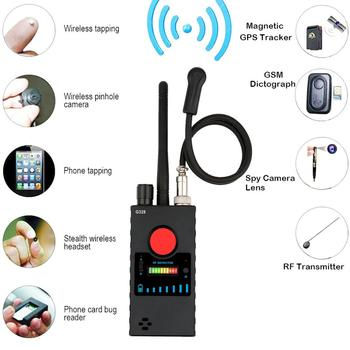 Anti-eavesdropping Wireless RF Signal Detector GSM Camera Finder  GPS Scanner Wireless Signal Finder rf signal detector gps signal detector wireless detector gps rf scanner finder gsm device finder