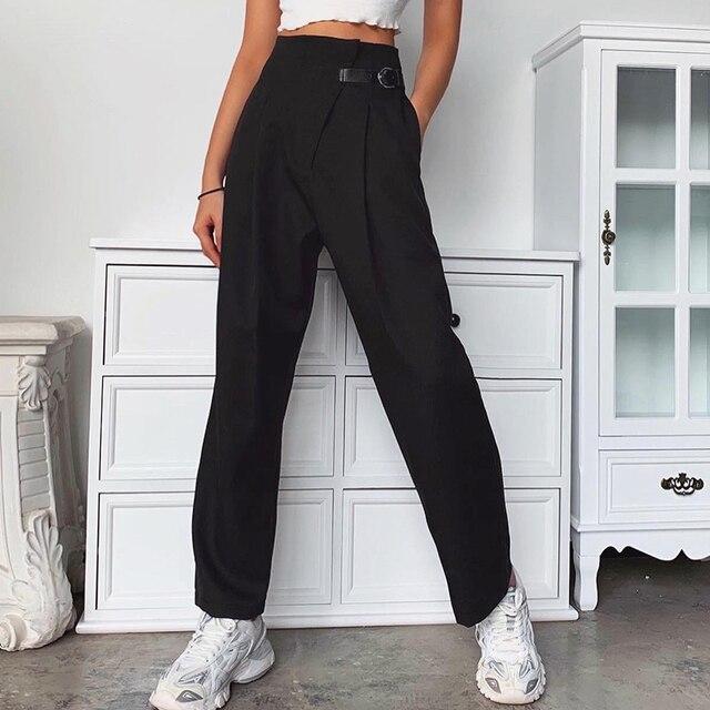 Straight Elegant Pants in black