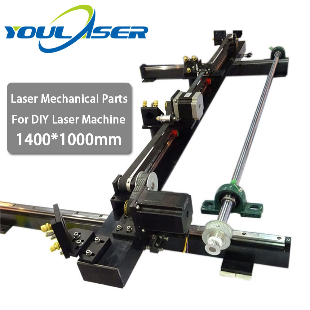 Laser Cutting Machine Spare Parts Set 1400mm*1000mm Single Head For Co2 Laser Mechanical Parts